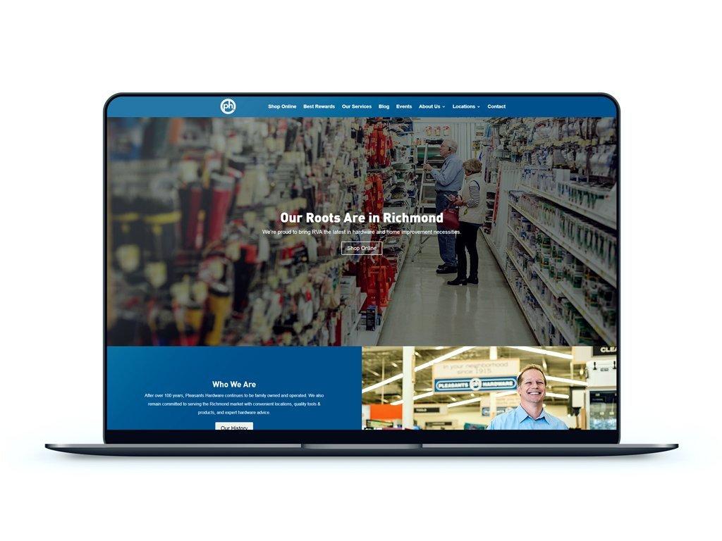 Pleasants Hardware   Affordable Web & Logo Design   Emerge